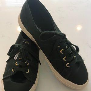 Superga Army Green Satin Sneakers, 6